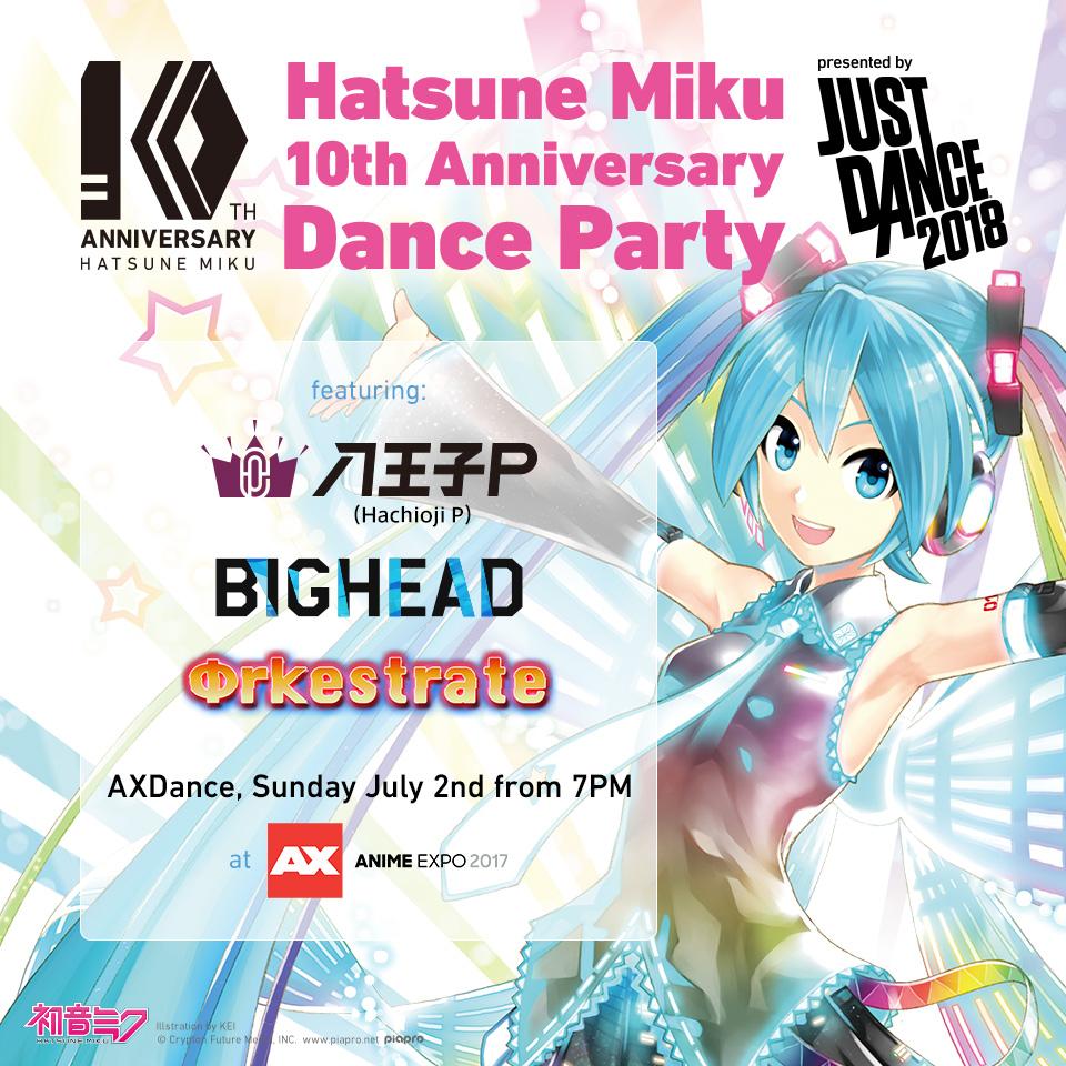 Anime July 2019: Celebrating Hatsune Miku's 10th Anniversary Dance Party At