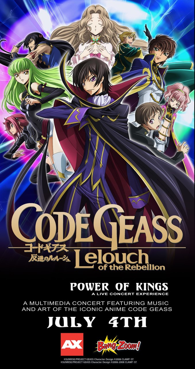 All Concerts Are Not Equal Join Anime Expo With Code Geass Power Of Kings As We Venture Into The Struggle For Freedom And Identity Facing 11s Against